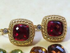 Pretty Joan Rivers Gold Tone Earrings with 10 Pair Interchaneable Stones