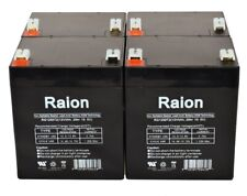 12V 5Ah Sla replacement battery set for Ups Oneac On700Xiu-Sn 4pk