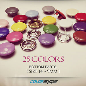 Size 14 • 10mm • Color Press Snap • Snap Button • No Sew Snaps • Gripper Snaps