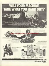 Shell Oil Motor Oils Motorcycle 1977 Magazine Advert #2924