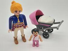 Playmobil Zubehör Ersatzteil Frau mit Kinderwagen und Baby