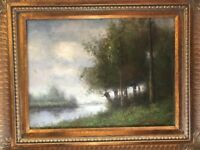 """Signed Original Oil on Canvas by Artist L. Stephano 20X24"""" Framed Stunning Piece"""