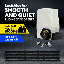 LockMaster Electric Sliding Gate Opener 1800KG Automatic Motor Remote Rail 4M