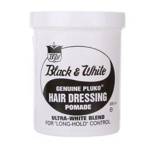 Black & White Hair Dressing Pomade fro Long Hold Control Ultra White Blend 200ml