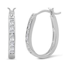 1/2ct peso total Brincos De Argola De Diamante Verdadeiro para mulheres em Ouro 10K