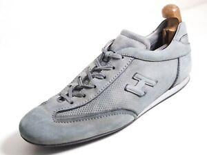 Hogan Fashion Sneakers Gray Suede Men Size US 12 EU 45