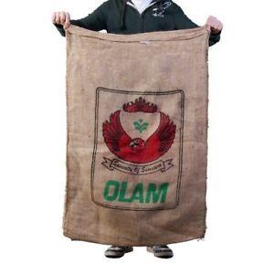 Burlap Coffee Bean Sack Bag. CRAFT Gunny Sack. 50 Pound Coffee Bags.