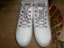 WOMENS TIMBERLAND CHUKKA BOOTS WHITE LEATHER UK 8 US 10W