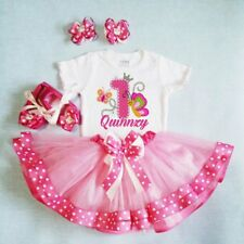 Customized Tutu One Piece Pink Skirt Set with Headband 6-7years old