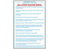 More details for food safety guidance act notice food hygiene sign self adhesive 300 x 200mm