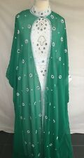 J23 Dubai Kaftan Farasha Jalabiya Magrabi Abaya Maxi Dress in Pink Medium