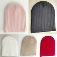New Adults' Mens Womens Unisex Beanie Basic Knit Ribbed Beanie Hat Cap 5Colours