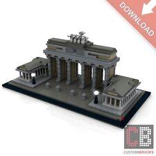 CB Architecture PDF Bauanleitung Brandenburger Tor aus LEGO® Steinen 810 Teile