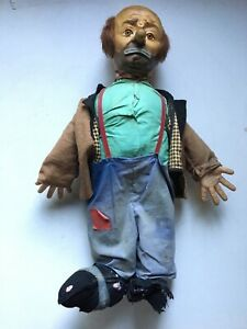 Vintage Emmett Kelly Willie The Clown Hobo Doll by Baby Barry Toy