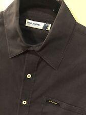 Paul Frank Men's Small Black Slim Button-Down Shirt Was $110