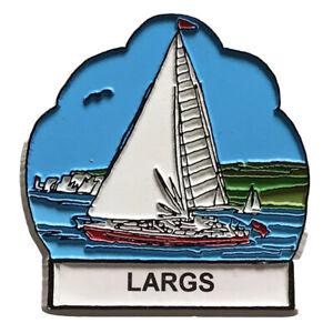 Largs Sailboat Fridge Magnet Scotland