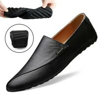 Mens Summer Casual Slip On Pumps Driving Shoes Round Toe Moccasins Gommino Shoes