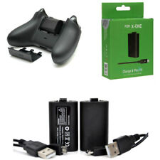 2x 1400mAh Rechargeable Battery Pack For Xbox One X Controller Pad w/ Cables