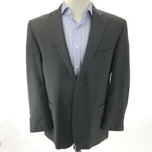 BURBERRY London Men's 42R Jacket Single Breasted Two Button Gray Notched Lapels