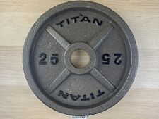 25lb Titan Cast Iron Olympic Plate 2� Standard Single Change Plate Fitness Gym