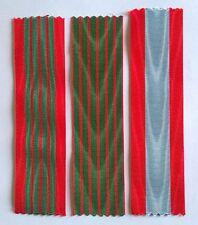 Lot de 3 rubans NEUFS pour Croix de guerre 1939/1945, 1914/1918 et TOE.