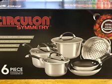Circulon Symmetry Stainless Steel 6 Piece Cookware Set