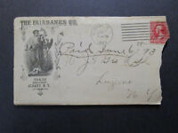 US 1893 The Fairbanks Co Cacheted Envelope & Enclosed Letterhead - Z7421