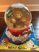 90s Vtg Nickelodeon Rugrats Christmas Snow Globe Xmas Musical Holiday 1998
