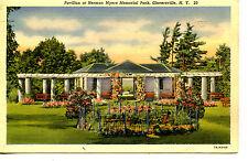 Flower Bed-Pavilion-Myers Memorial Park-Gloversville-New York-Vintage Postcard