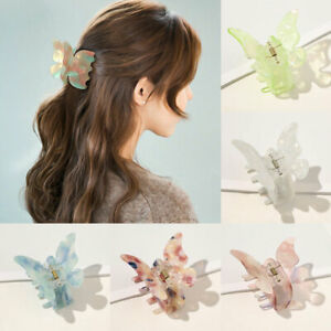 Women Girls Butterfly Hair Claw Clips Large Hair Clamp Sweet Hairpin Barrette :.