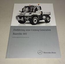 Werkstatthandbuch Einführungsschrift Mercedes Unimog Baureihe 405 Stand 03/2013