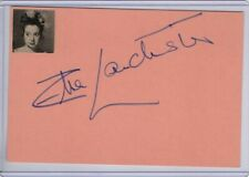Elsa Lanchester Signed Autographed Index Card Cut Signature Actress JSA II59145