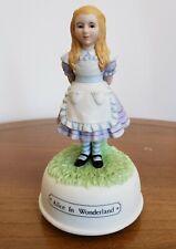 Alice in Wonderland porcelain music box (Sankyo)
