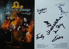 Umbra et Imago [Mozart] __ original autographe/Autographe Carte 15 cm x 21 cm