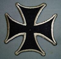 iron cross patch badge chopper biker motorcycle hot rod drag race jacket vest MC