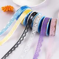 5PCS Washi Lace DIY Decorative Sticky Paper Self Adhesive Masking Tape Sticker