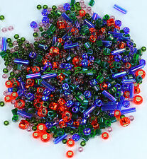 30g TOHO Glass Seed Beads Mix-#3226- Shousei- Red/Green/Blue Mix