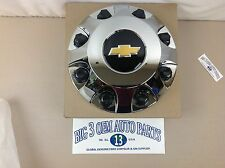 Chevrolet Silverado 3500 8 Lug Chrome Wheel CENTER HUB CAP w/  Bow Tie new OEM