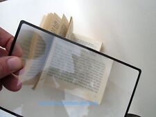 Magnifying glass flat  sheet page bookmark A5 magnifier fresnel NEW