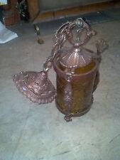 Crackle glass ornate pennant light    (LT 367)