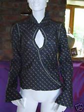 Dept Dark Grey Horseshoe Print Shirt Blouse   (S)   UK 8   BNWT