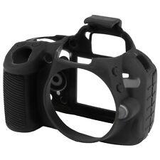 La pelle in silicone nero/Coperchio/Armour per Nikon d3100 per PROTETTIVA STOCK Regno Unito