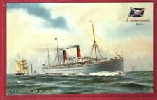 UNION-CASTLE S.S.BRITON 1897 TUCK'S ART COLOR CARD EXCELLENT