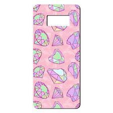 Para Samsung Galaxy S8 Silicona Funda Bling Diamantes patrones Verde Rosa-S659