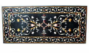 "48"" x 24"" Marble Table Top Inlay pietra dura work art home decor"
