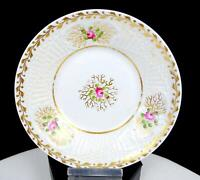 "OLD PARIS PORCELAIN ROSE AND GILT BASKET WEAVE 5 3/4"" SAUCER 1880's"