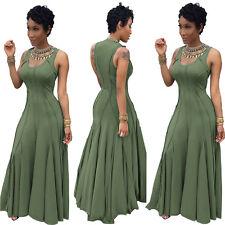 New Women Sleeveless High Waist Elegant Maxi Slim Long Evening Party Dress