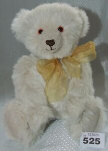 OOAK white mohair, glass eyes, 15 inches. W525