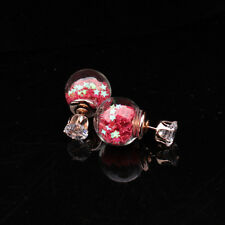1Pair Pretty Women Lady Fashion Elegant Star Rhinestone Glass Ear Stud Earrings