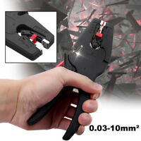 0.03-10mm² Adjustable Electric Cable Wire Crimper Stripper Stripping Pliers